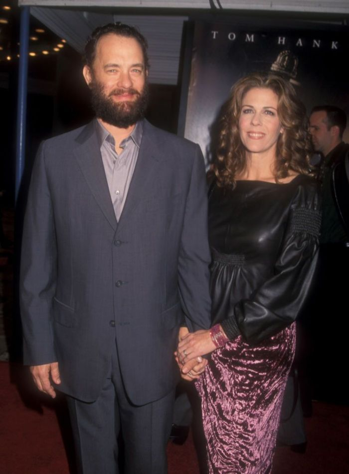 Tom Hanks and his wife at the premiere of Green Mile