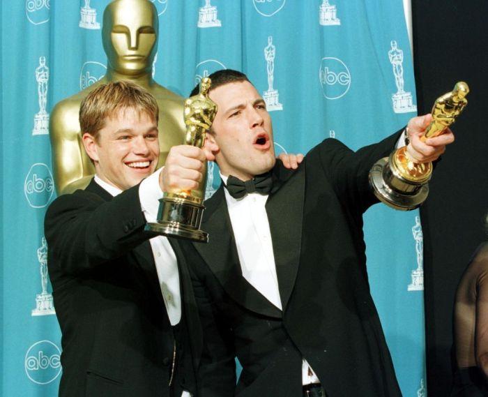 Ben Affleck and Matt Damon receiving an Oscar for Good Will Hunting