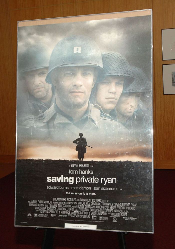 The cover of Saving Private Ryan starring Tom Hanks