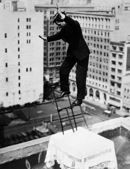 man performing stunt