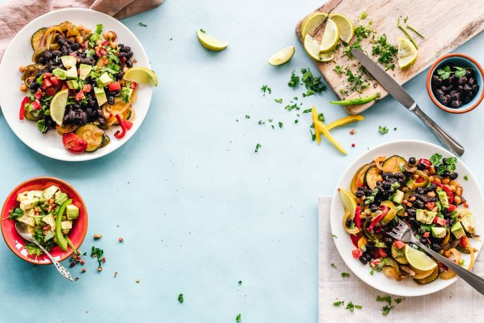 A beautiful and colorful Mexican breakfast spread