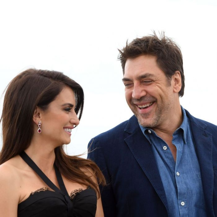 Two celebrity love birds laughing together