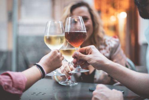 toast glasses of wine