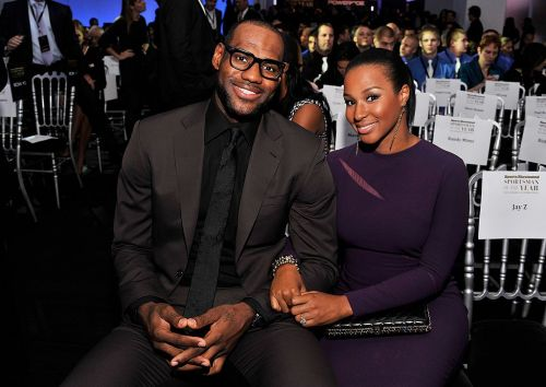 LeBron James and his wife Savannah at a Sports Illustrated event