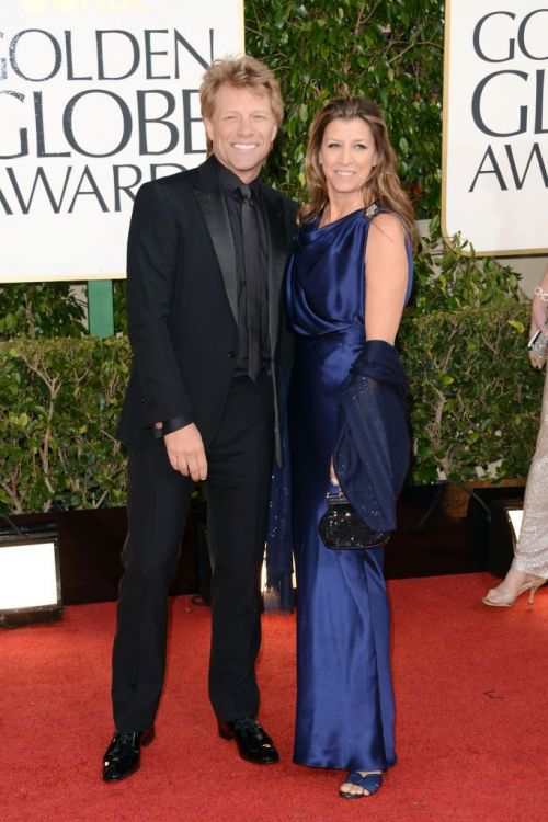 Jon Bon Jovi and Dorothea Hurley at the Golden Globe Awards