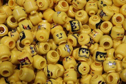 Yellow Lego figure heads