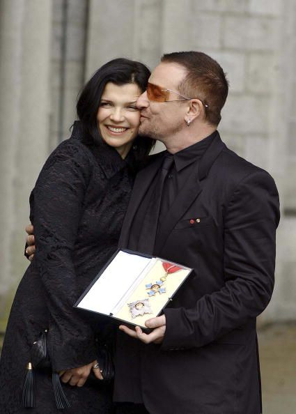 Bono Vox with his wife Ali Hewson in Ireland