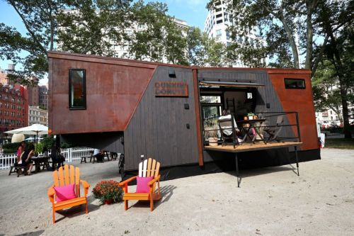 Tiny home by Dunkin' Donuts, called Home that Runs on Dunkin'