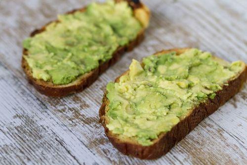 Two slices of avocado toast