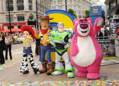Toy Story characters at Toy Story 3 UK film premiere