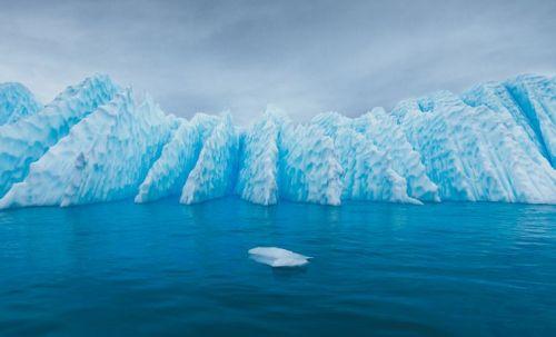 Textured iceberg in Antarctica
