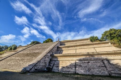 The pyramid of Cholula in Mexico