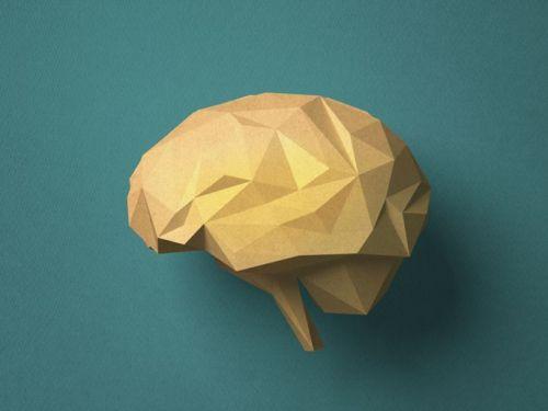 Brain-shaped paper craft