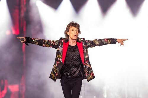 Mick Jagger of The Rolling Stones performs live on stage