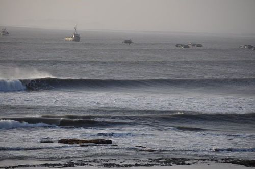Waves at Puerto Chicama in Peru